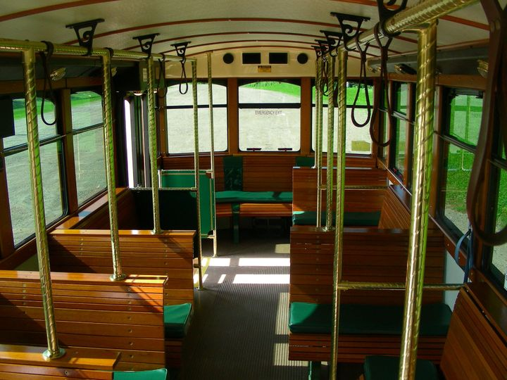 Interior of a trolley