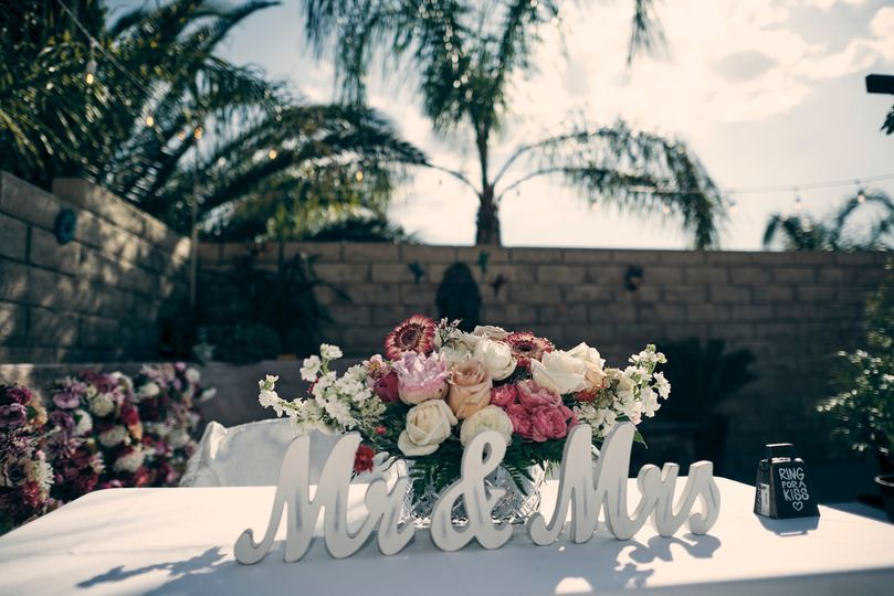 Mini Sweetheart table