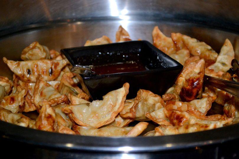 Chicken Potstickers with Asian Plum Sauce