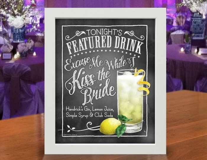 Kiss The Bride signature cocktail