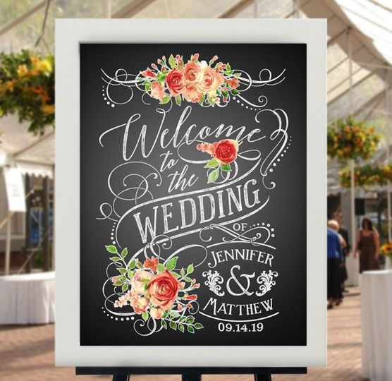 Romantic Vintage Chalk Poster