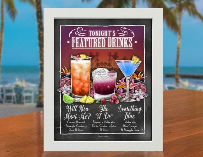 Tropical Beach Drink Sign