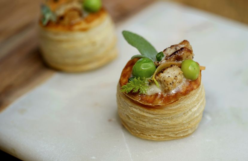 Canapés | chicken pot pie
