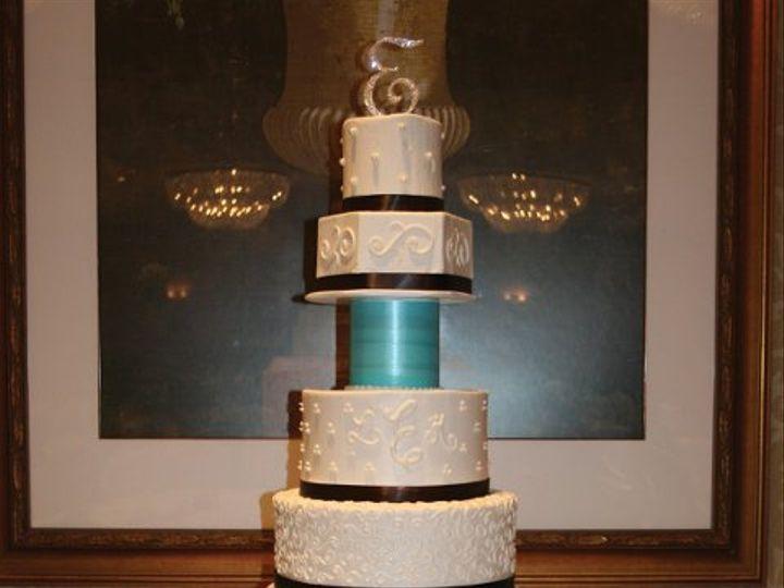 Tmx 1253200552640 6tiertiffanyandbrown Duncanville wedding cake