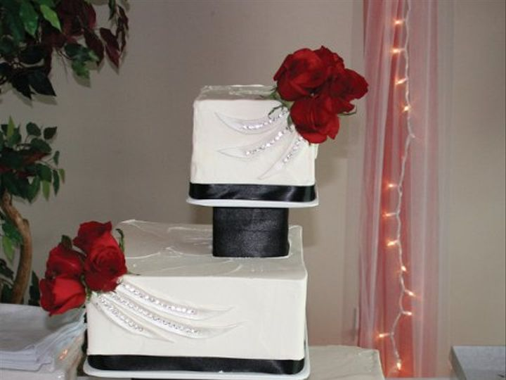 Tmx 1253200569125 Blackred Duncanville wedding cake