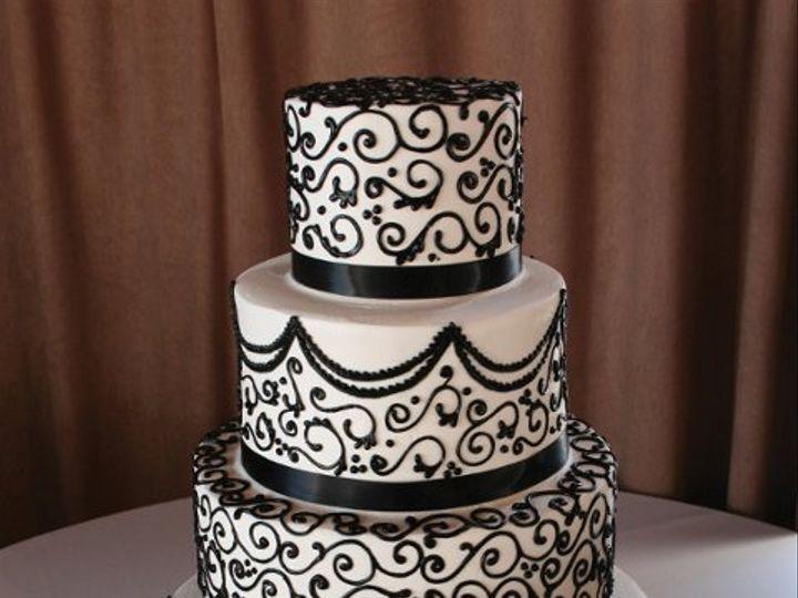 Tmx 1253200586031 Blackscrollcamillone Duncanville wedding cake