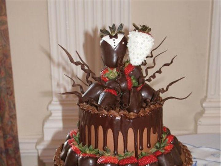 Tmx 1253200645281 Groomchoccurlies Duncanville wedding cake
