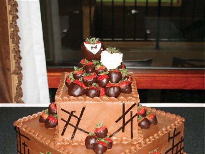 Tmx 1253200665828 Groomscakemoderncrosses Duncanville wedding cake
