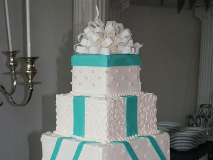 Tmx 1253200751671 Tiffanyblue Duncanville wedding cake