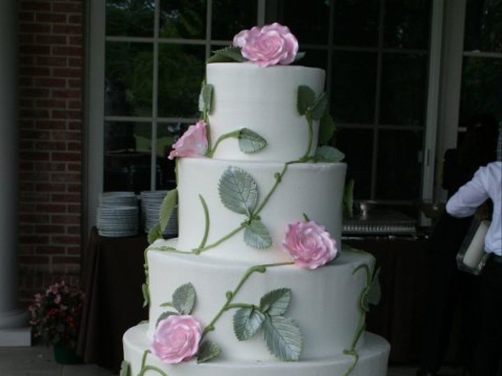 Tmx 1253201923937 Pinkrose8x10 Duncanville wedding cake