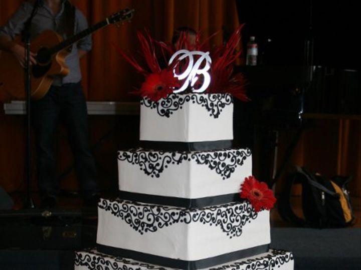 Tmx 1253202068781 Blackred Duncanville wedding cake