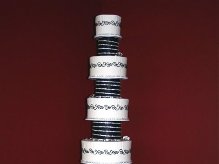Tmx 1253202081718 Blackrhinestones Duncanville wedding cake