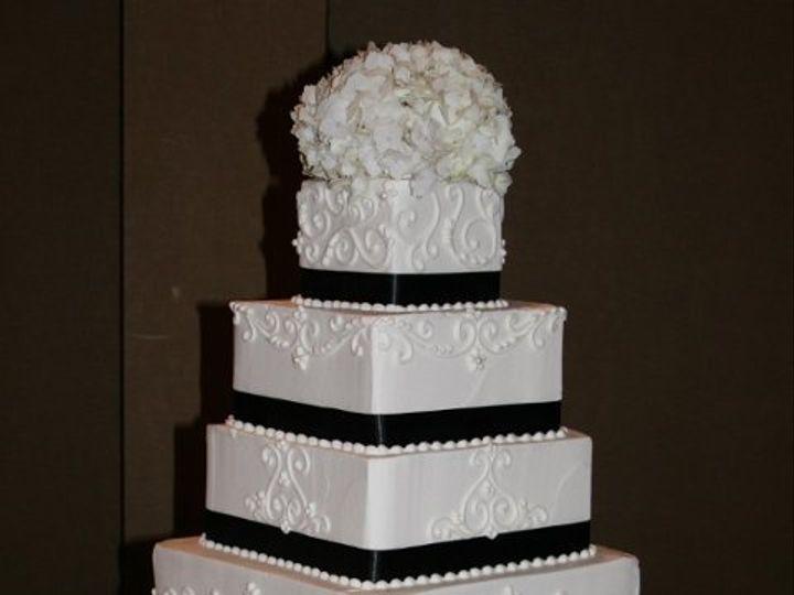 Tmx 1253202098125 Blackstripescrolls Duncanville wedding cake