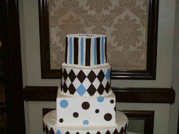 Tmx 1253202138984 Brownblue Duncanville wedding cake