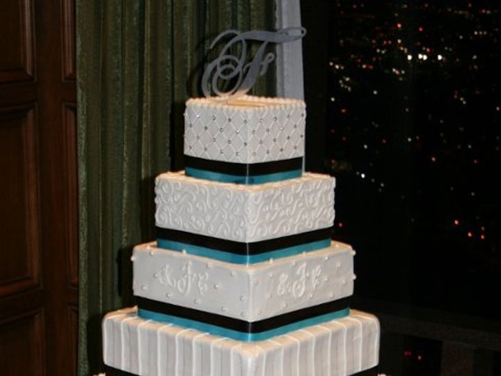 Tmx 1253202157109 Brownbluesquare Duncanville wedding cake