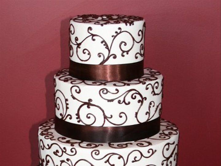 Tmx 1253202186093 Brownscrolls Duncanville wedding cake