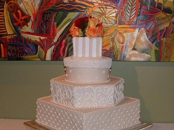 Tmx 1253202456859 Taupeandwhite Duncanville wedding cake