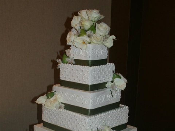 Tmx 1253202788640 Greenribbon Duncanville wedding cake