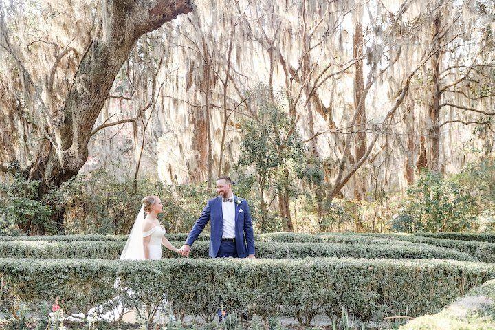 Spanish moss wedding photos