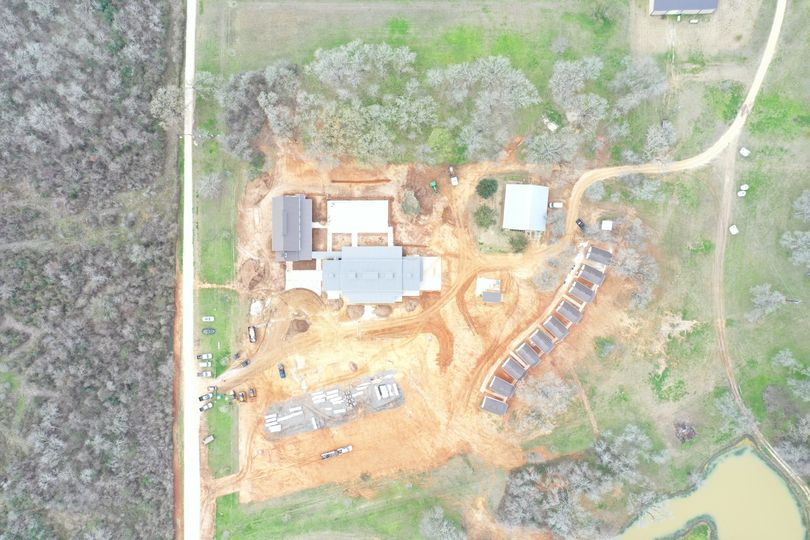 Ariel view of the property