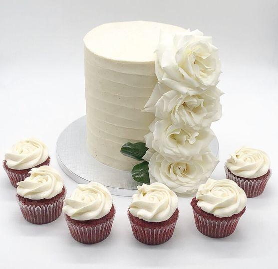 Micro Wedding Cake and Cupcake