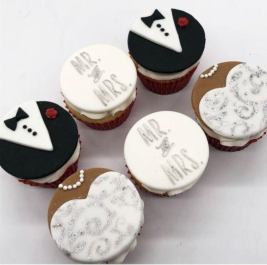 Custom Wedding Cupcake Toppers