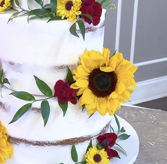 Naked Wedding Cake Closeup