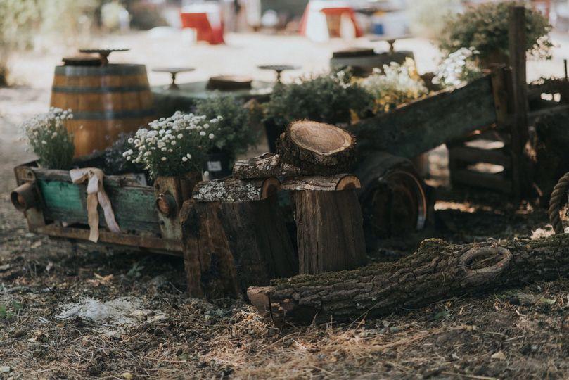 Rustic old wagon