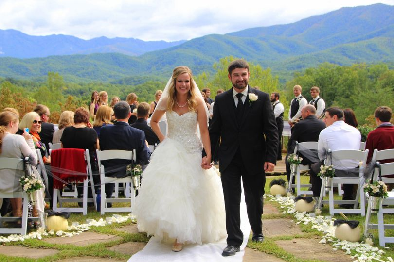 Above the Mist • Mountain View Ceremony with up to 20 Guests • 20 White Wedding Chairs • Recorded...