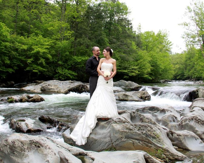 River Romance • Cascading River Ceremony with 20 Guests • (20) 4×6 Wedding Photos of your choice •...