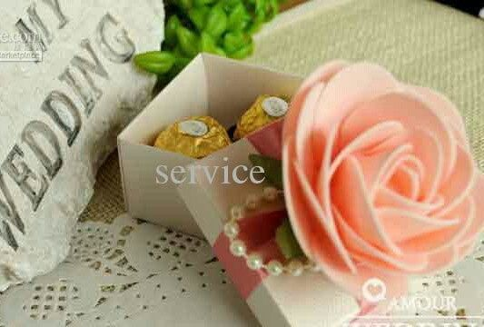 Tmx 1413875863711 30pcs Lot Beautiful Pink Flower Candy Boxes 12 Little Falls wedding planner