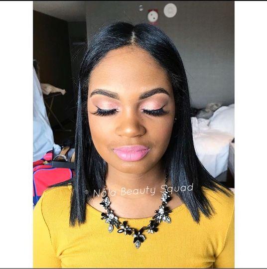 Pop of color makeup