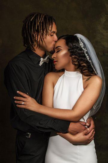Bridal hair and makeup glam