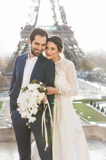 Winter Wedding in Paris