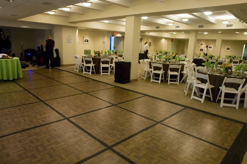 Our Social Hall can seat up to 125 people for a reception with a dance floor