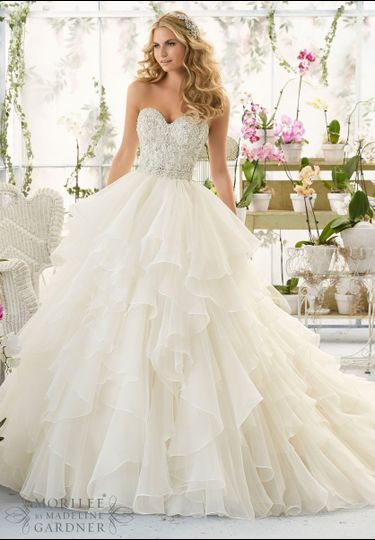 Stunning Mori Lee ball gown in our store now!