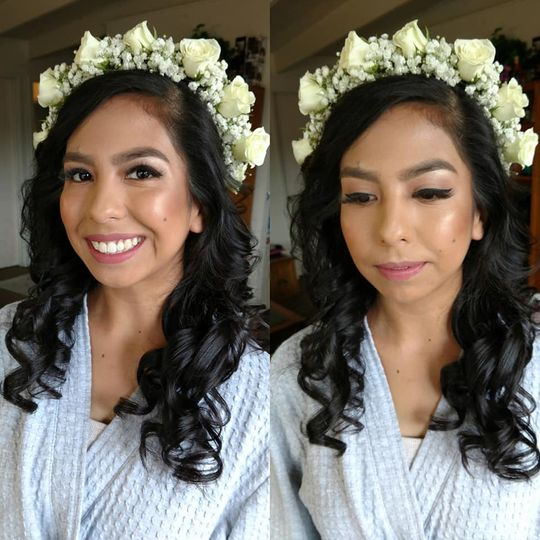 Hair & Makeup for this bride
