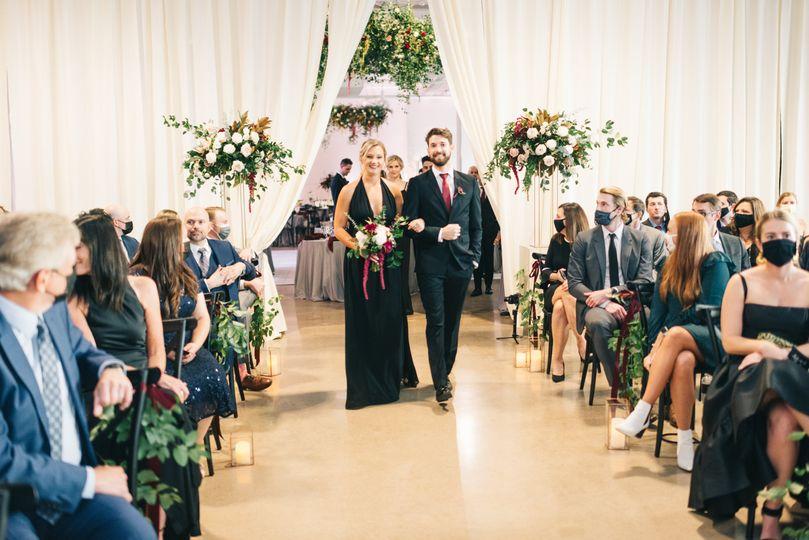 Ceremony with drapery