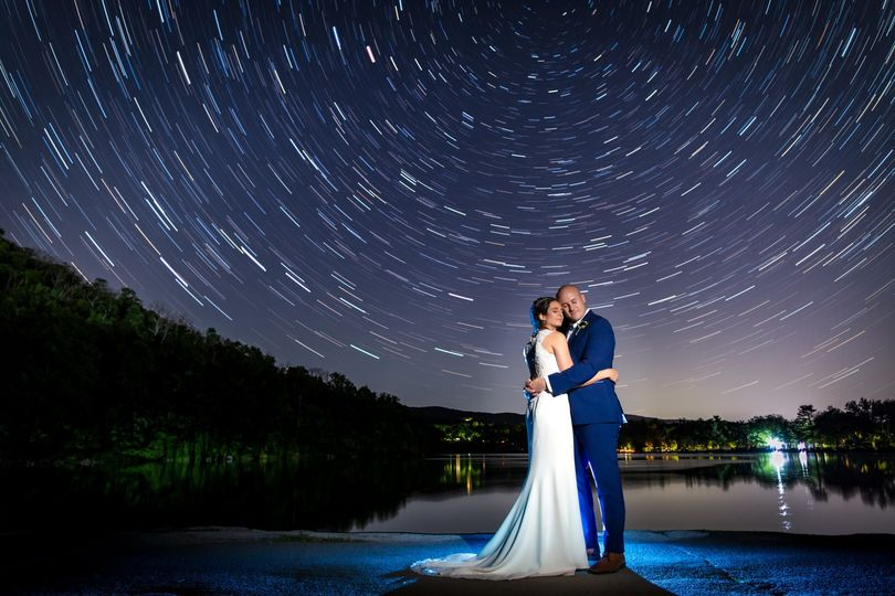 Star trails at Bear Mountain