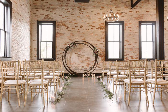 Indoor ceremony setup