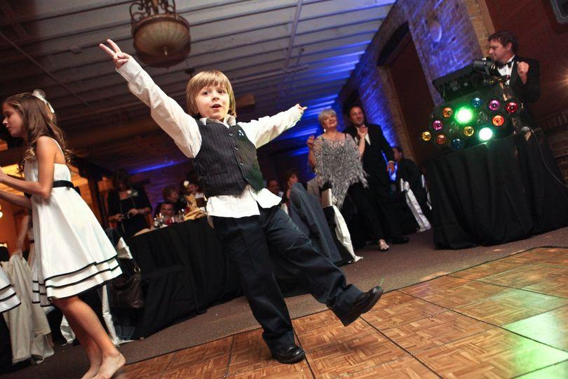 We even get the kids dancing