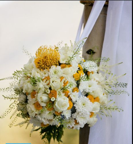 yellowwhiteflowerballwedding