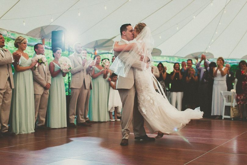 Tented Reception first dance