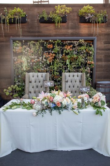 Bride & groom throne chairs
