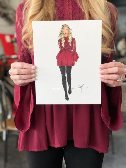 Bespoke fashion illustrations
