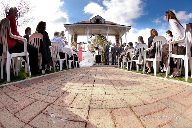 Weissgerber's Golden Mast wedding ceremony outdoor venue