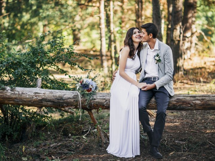 Tmx Honeymooners Are Hugging The Bride And Groom In The Forest  51 1873283 1567256775 Raleigh, NC wedding videography