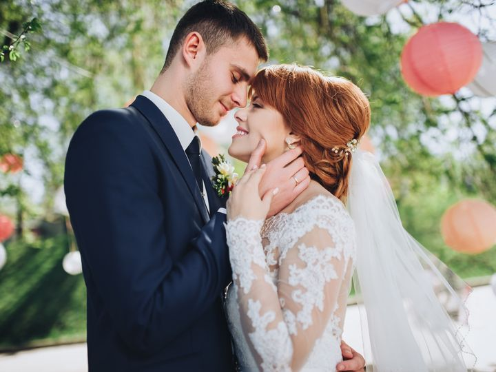 Tmx The Red Haired Bride In A Lace Dress Embraces Her Groom Bride And Groom At Wedding Day Walking Outdoors On Spring Nature Happy Newlywed Wo  51 1873283 1567115533 Raleigh, NC wedding videography