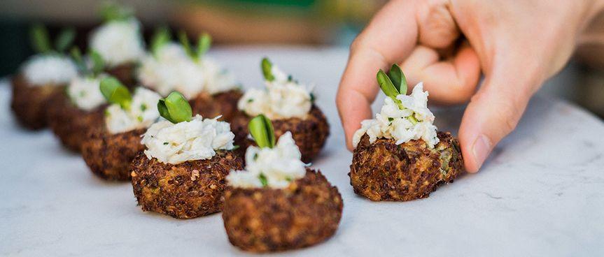 crab quinoa fritters