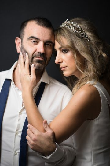 Studio wedding photography